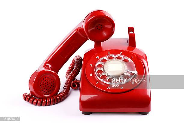 red phone - landline phone stock pictures, royalty-free photos & images