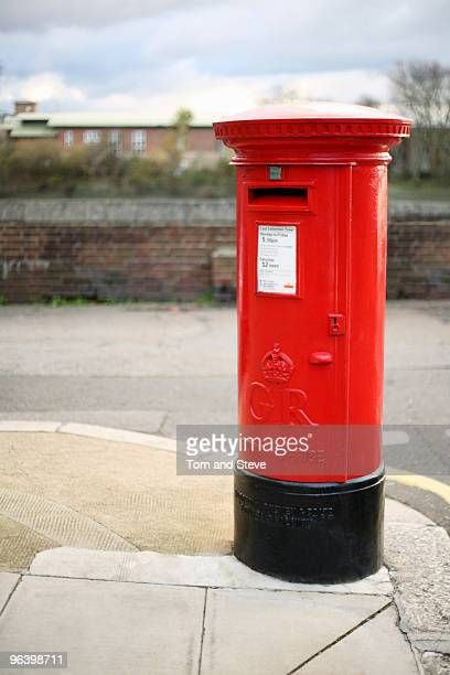 Red Pillar Post box