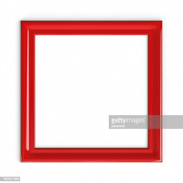 red plastic picture frame - frame stock pictures, royalty-free photos & images