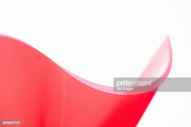 Red plastic wave