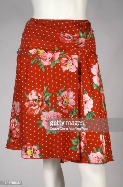 Red polkadot jersey skirt from Morgan 19 February 2004