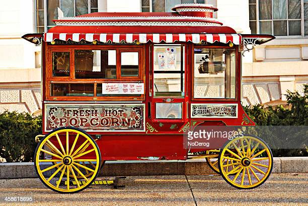 Red Popcorn Wagon on Mall in Washington DC
