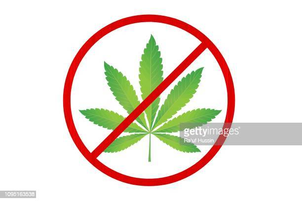 red prohibition no drugs sign. no marijuana sign. do not use drugs sign - vector illustration - vector illustrations stock pictures, royalty-free photos & images