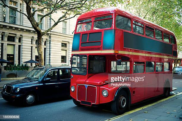 Red Public Double Decker Bus on London Street