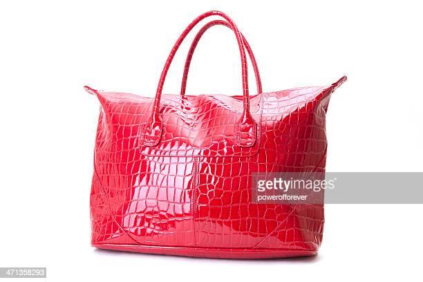 sac à main rouge - sac à main rouge photos et images de collection