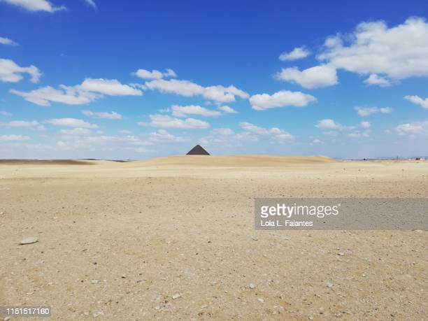 Red Pyramid at the background. Dahshur
