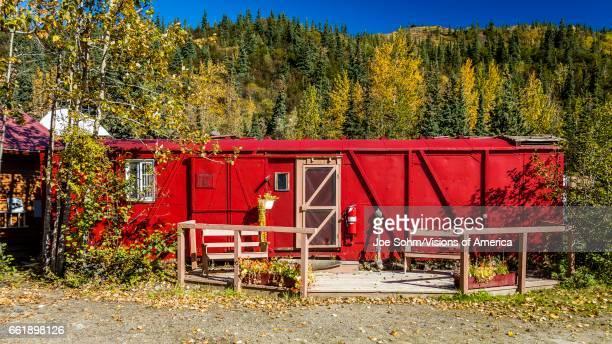 Red Railroad Carhouse Kantishna Alaska Mnt Denali National Park Alaska