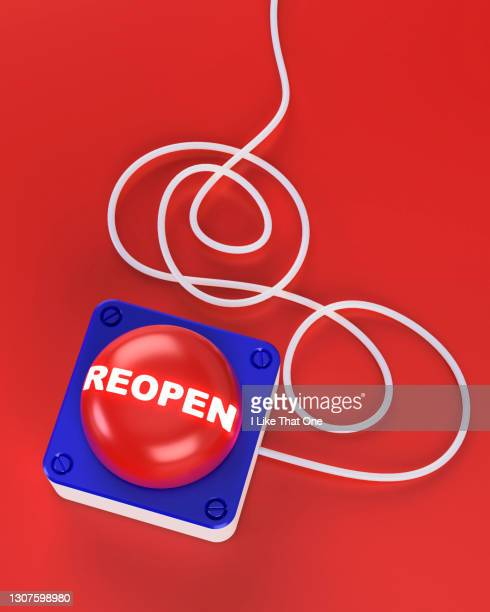 a red reopen button with cable leading off the top of the frame - atomic imagery stock pictures, royalty-free photos & images
