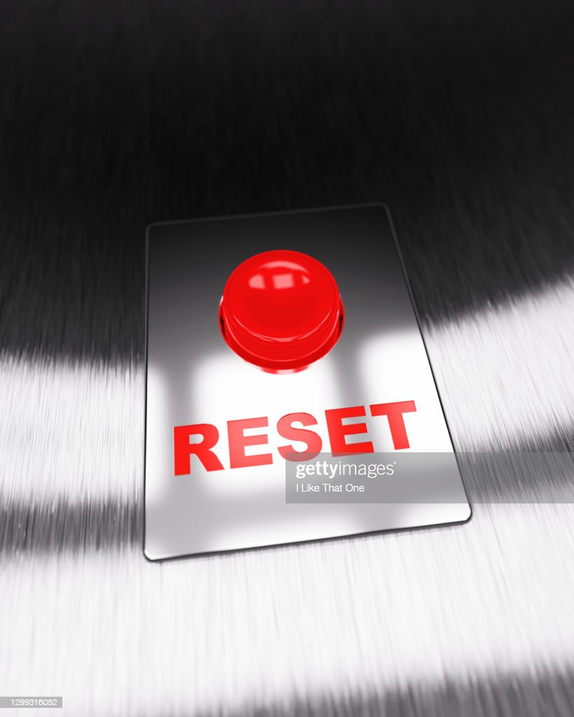 Red Reset Button : Stock Photo