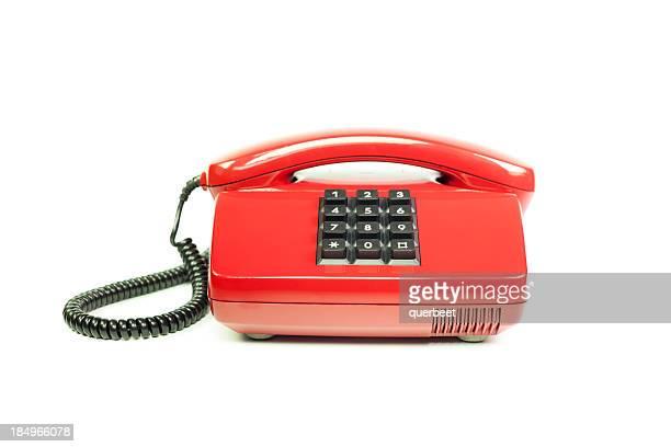 Rot-retro-Stil-Telefon