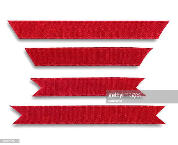 red ribbon cutting - satin stock pictures, royalty-free photos & images