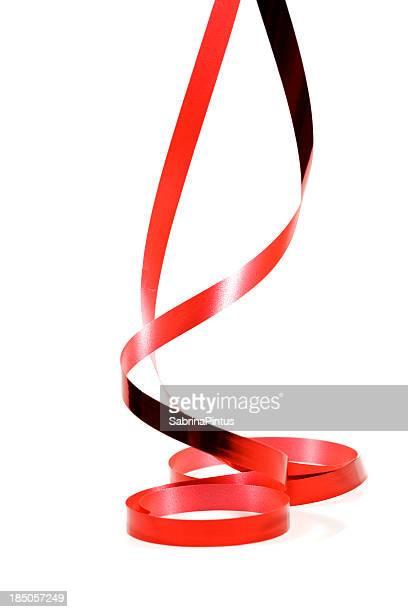 red ribbon hanging  down
