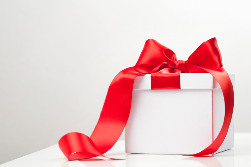 Red ribbon on gift box - gettyimageskorea