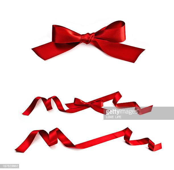 red ribbon - tied bow stock pictures, royalty-free photos & images