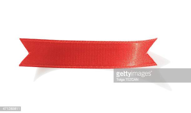 red ribbon - ribbon stock pictures, royalty-free photos & images