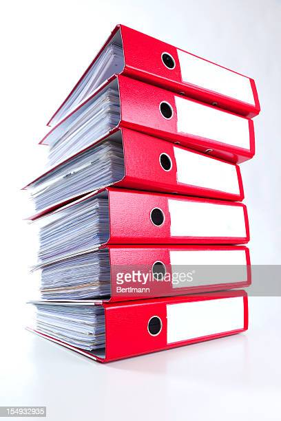 red ring binders - ring binder stock pictures, royalty-free photos & images