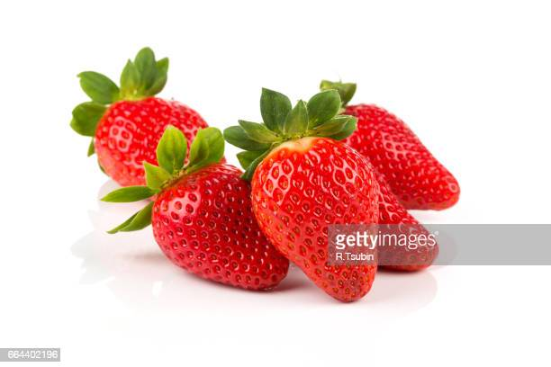 red ripe strawberry fruits - strawberry stock pictures, royalty-free photos & images