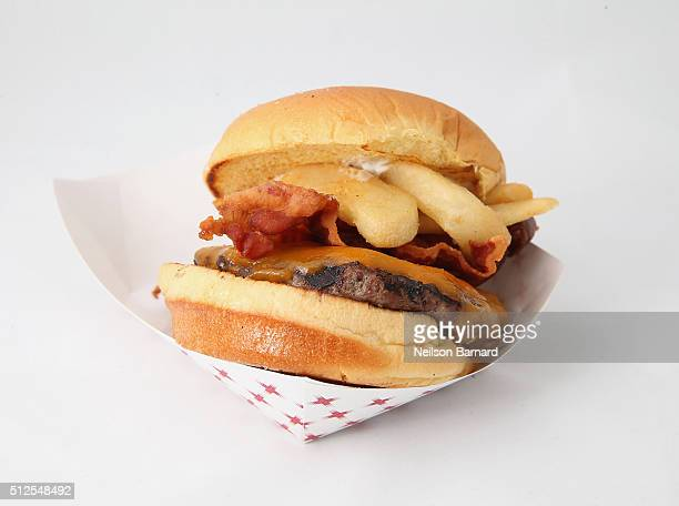 Red Robin Gourmet Burger on display at Amstel Light Burger Bash Presented By Schweid Sons Hosted By Rachael Ray during 2016 Food Network Cooking...