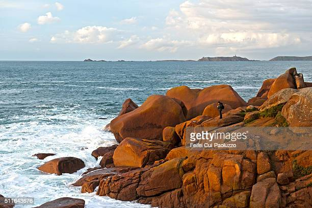 Red Rock at Ploumanac'h Côtes-d'Armor department of the Brittany region of France