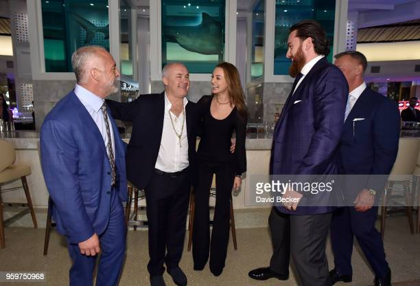Red Rock Resorts CoFounder Lorenzo Fertitta artist Damien Hirst Sophie Cannell Fertitta Capital Vice President Pat Lewis and Red Rock Resorts...
