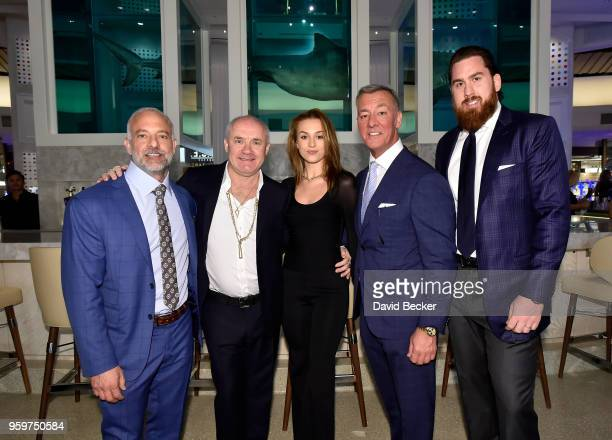 Red Rock Resorts CoFounder Lorenzo Fertitta artist Damien Hirst Sophie Cannell Red Rock Resorts CoFounder Frank Fertitta and Fertitta Capital Vice...