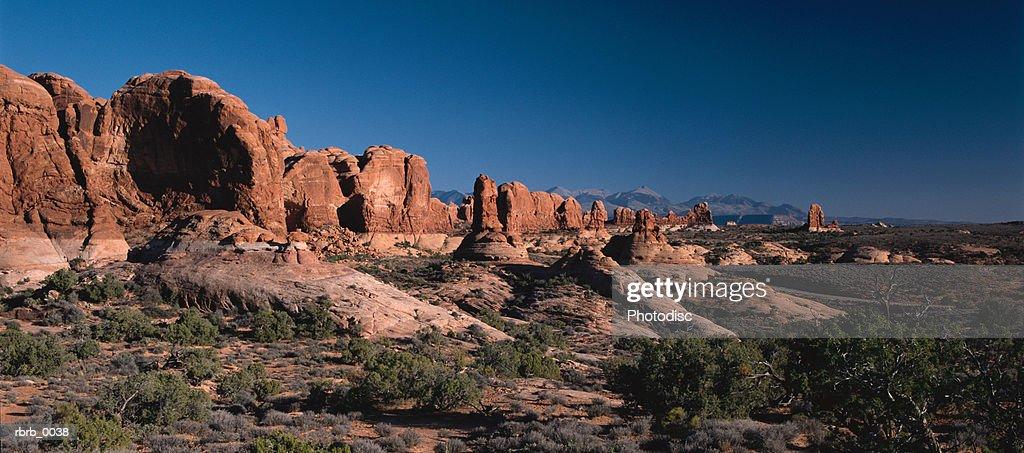red rock scenery in southern utah : Stockfoto