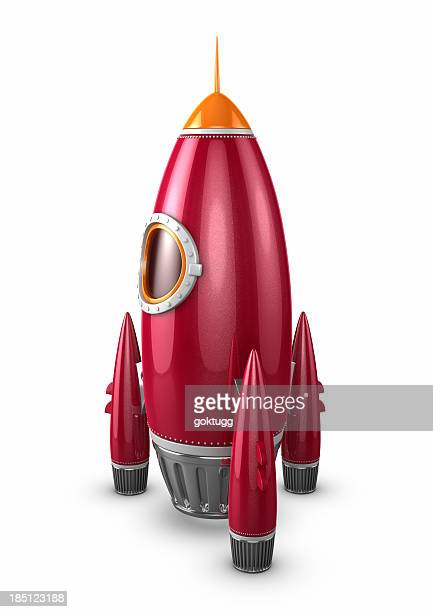 Red Rocket Ship Ready To Take Off