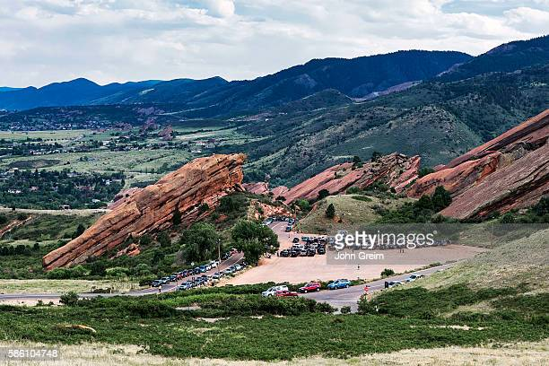 Red Rocks Amphitheatre filling up for an evening concert