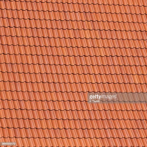 Red roof tiles background details