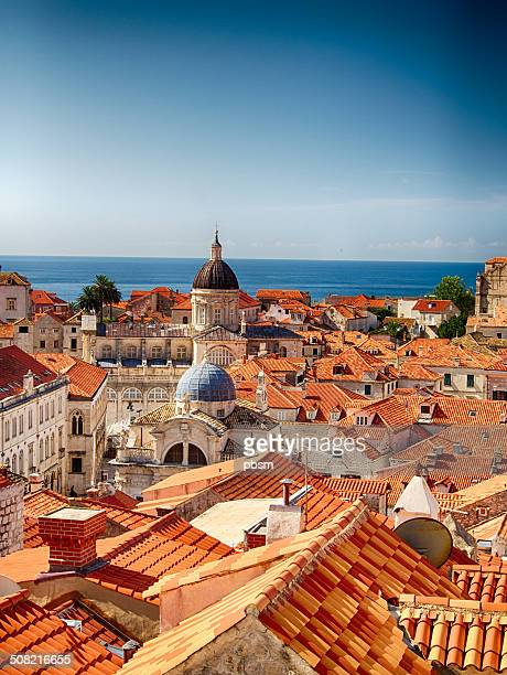 red roofs of dubrovnik, croatia - croatia stock pictures, royalty-free photos & images