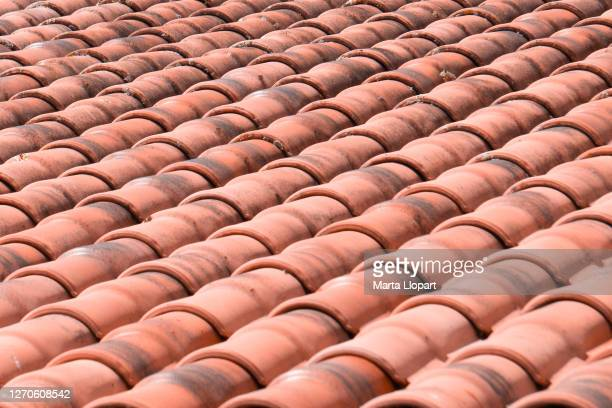 red rooftop tile texture for background