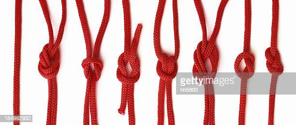 red Rope knot isolated on white