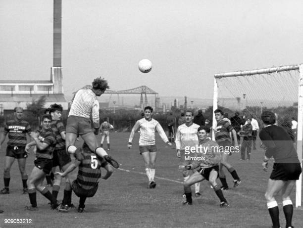 Red Rose 33 Billingham Constitutional Teesborough League match at Prissick Base 25th September 1988 Flying high Red Rose on the attack in the 33 draw...