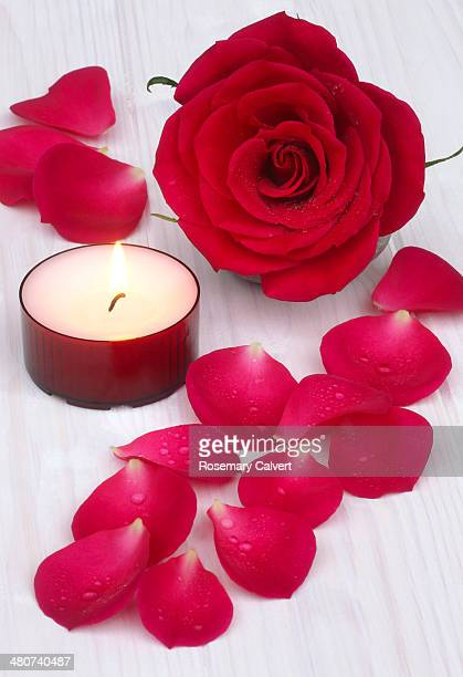 Red rose for love and body care.