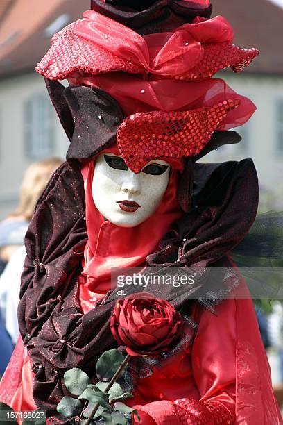mardi gras: red rose greetings - gras bildbanksfoton och bilder