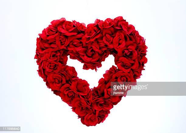 Rote Rose und Herzen