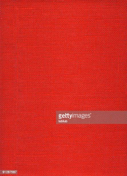 Red rough burlap canvas texture and background