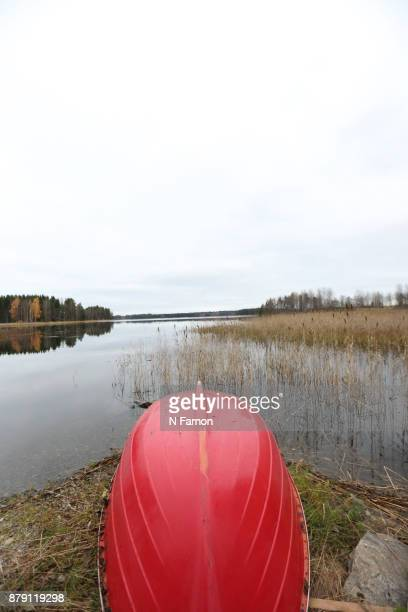 Red rowing boat