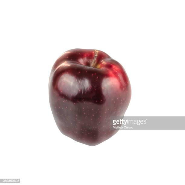 red royal gala apple on white background - royal gala apple stock photos and pictures