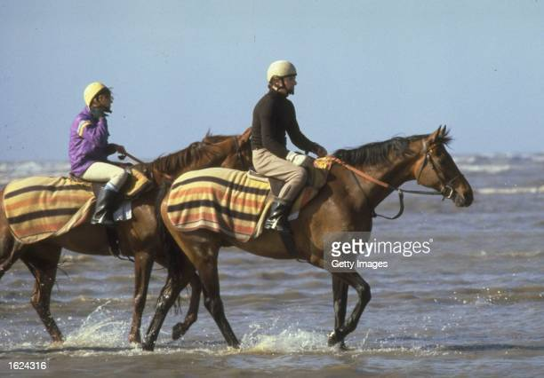 Red Rum exercises on Southport Sands England Mandatory Credit Allsport UK /Allsport