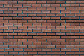Red rustic brick wall - high quality texture / background