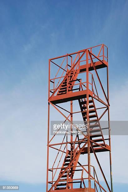 Red rusty scaffolding