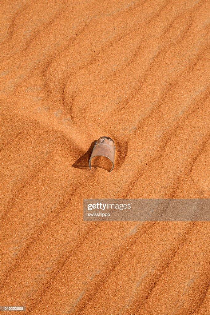 Deserto de areia vermelha : Foto de stock