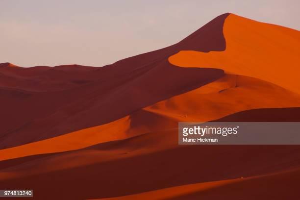 Red Sand Dunes at Sossusvlei in Namib-Naukluft National Park of Namibia