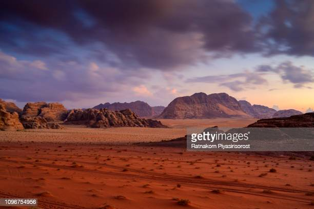 red sand of wadi rum desert, jordan - mars stock pictures, royalty-free photos & images