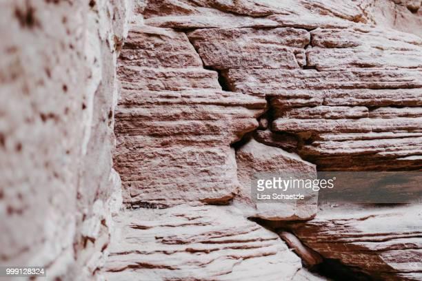 red sandstone near black forest - sandstein stock-fotos und bilder