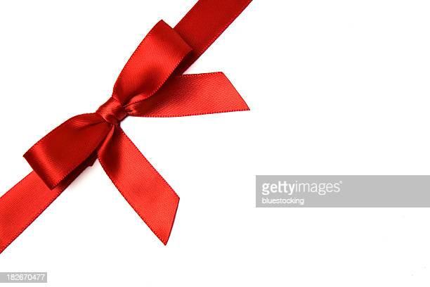 Rote Satin Geschenk Schleife