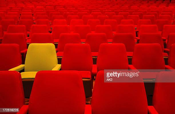 red seats and one different - opera stock pictures, royalty-free photos & images