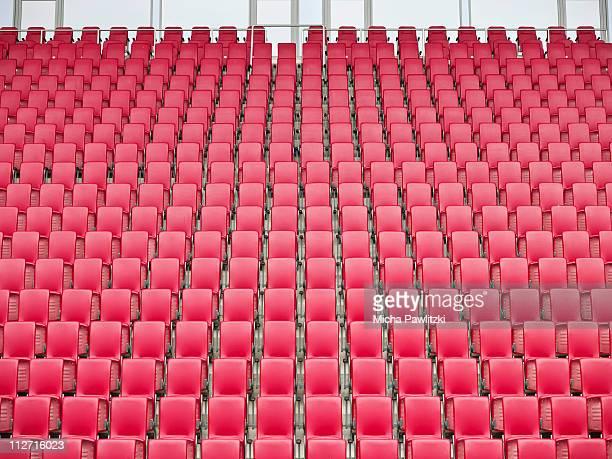 Red Seats in Stadium