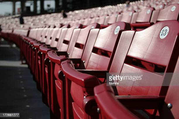 red seats - cincinnati stock pictures, royalty-free photos & images